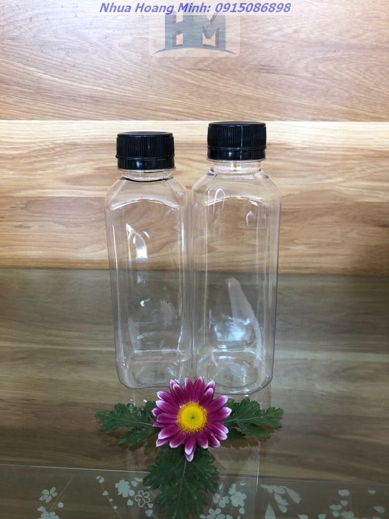 Chai nhựa PET 500ml đựng cafe, nước detox 24