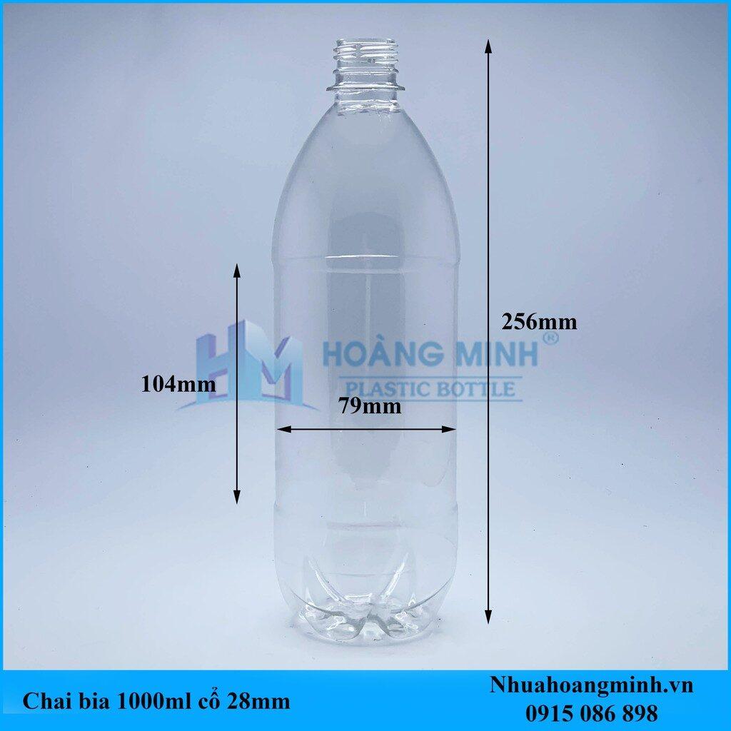 Chai nhựa thực phẩm 1lit – Chai trơn