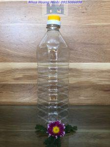 Chai nhựa thực phẩm 1lit – Chai vuông