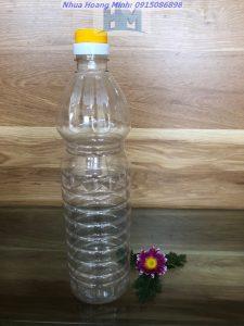 Chai nhựa thực phẩm 1lit – Chai tròn