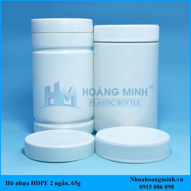 Hũ Nhựa HDPE 500g – Hũ 2 ngấn