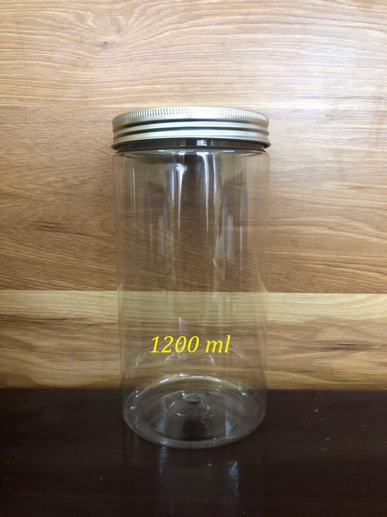 Hũ nhựa PET nắp nhôm 1200ml